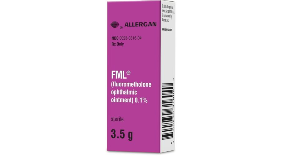 FML 0.1% OPH OINT 3.5 GM NDC 00023-0316-04