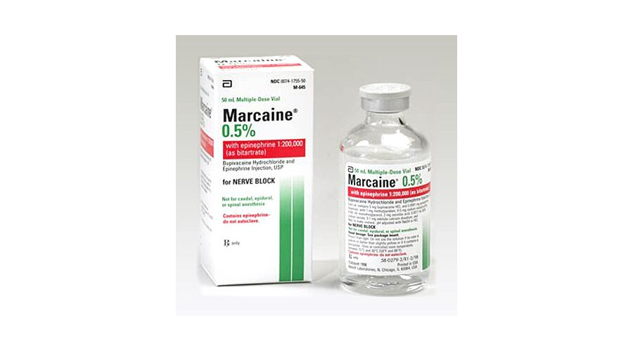 MARCAINEI W/EPI 0.5% VIAL 50 ML MDV 0409-1755-50