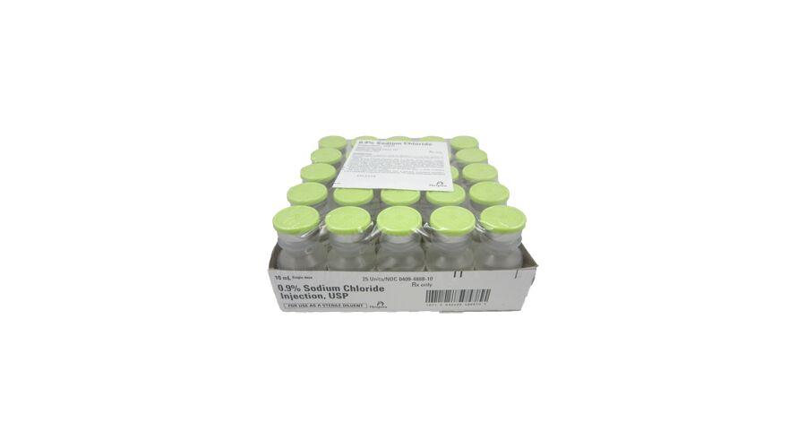 SODIUM CHLORIDE 0.9% SDV 25 X 10 ML PF NDC 00409-4888-10