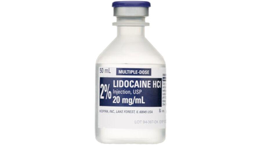 LIDOCAINE 2% MDV 25 X 50 ML