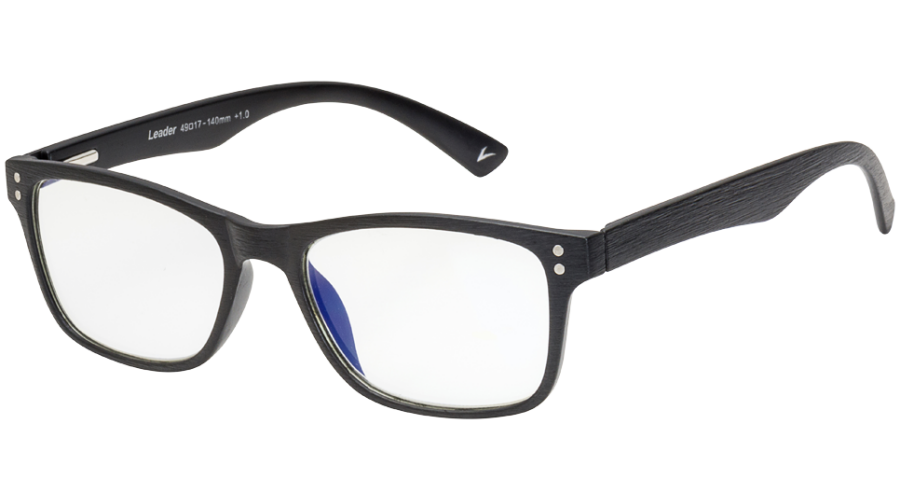BLU-BAN GLASSES 5505 BRUSH BLACK +1.00