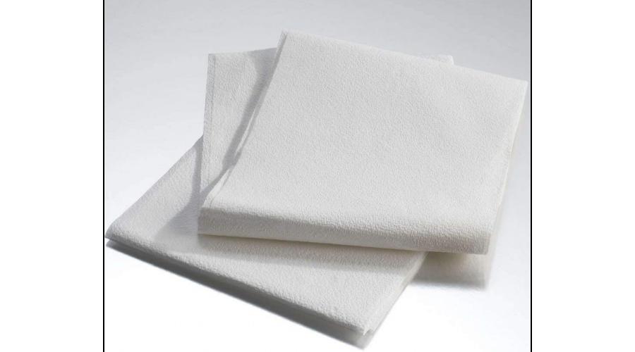"Tissue Drape & Bed Sheet 3Ply 40""x90"" White 50/cs"