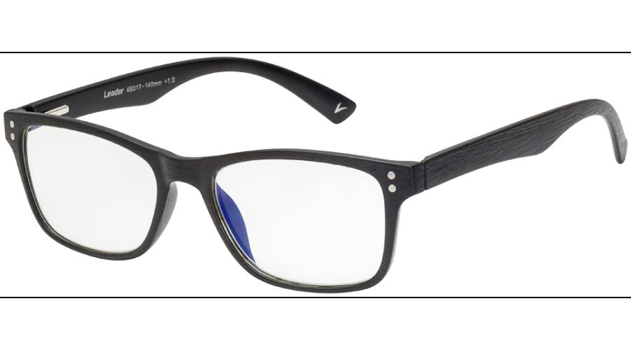 BLU-BAN GLASSES 5505 BRUSH BLACK +2.00