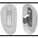 "17mm, ""D"" Shape, Silver - 5 Pair"