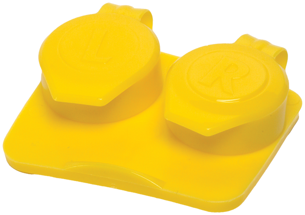 Contact Lens Cases Yellow 50/Pack