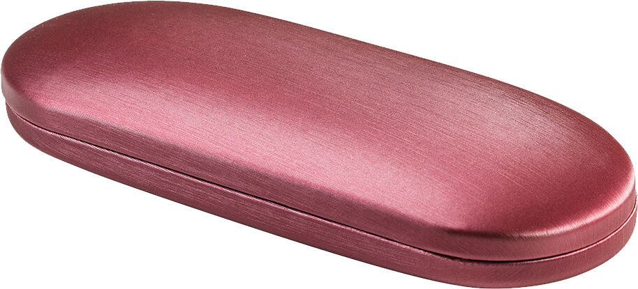 Cranberry Satin Oval Case