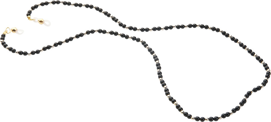 Pearl Fashion Holder/Necklace, Black
