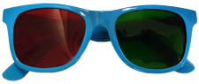 Red & Green Wraparound Glasses