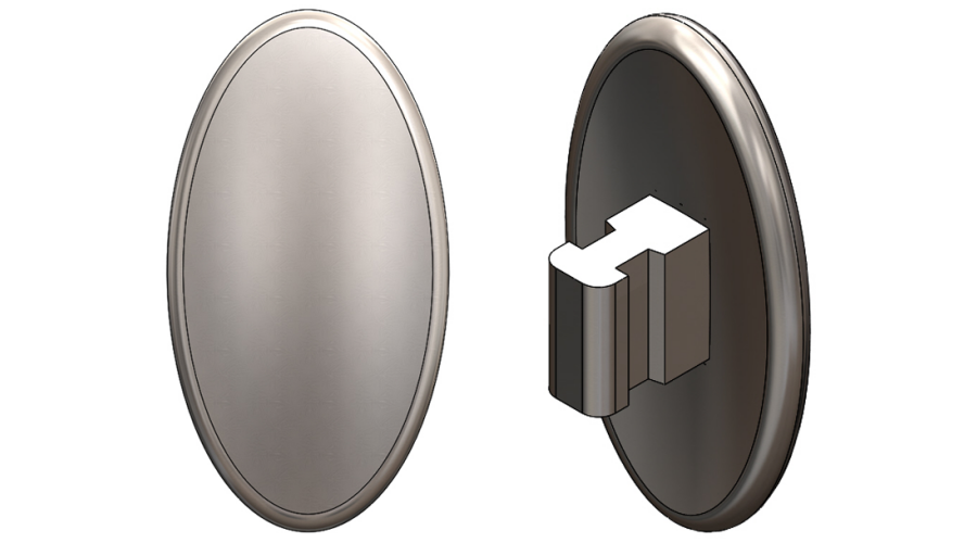 13mm, Oval, Push-On - 3 Pair