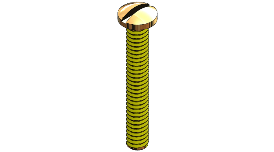 Lens Screw, Gold, 25 Pcs. (slot)