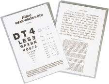 Near Vision Card, English