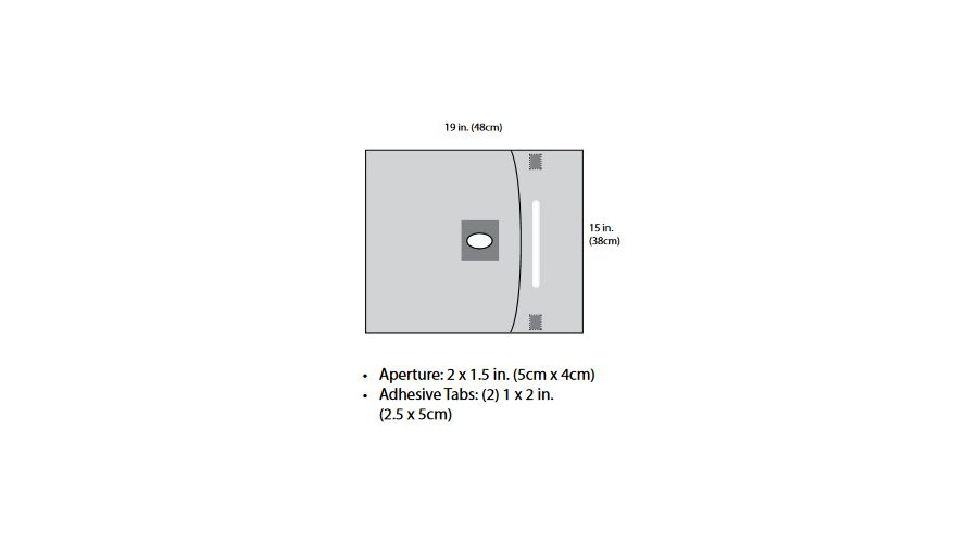 """Aperture Drape With Fluid Pouch 15"""" X 19""""  10/box"""
