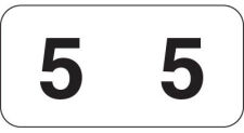 Jeter 40300 Compatible Numerical Labels (Roll)