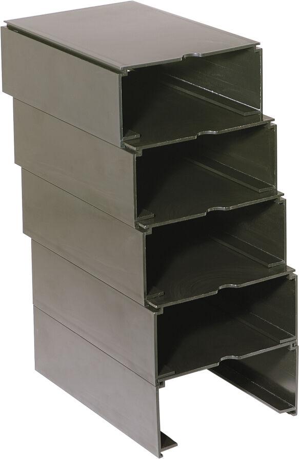 Empty Modular Rx Tray Box, Set of 5 (Black)