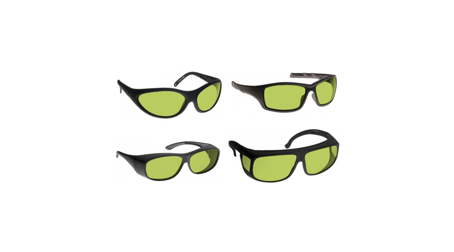 Noir Wraparound Green Glasses Infrared Lasers