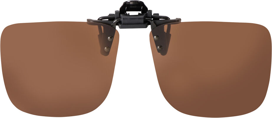FLIP-UP SMALL SQUARE BROWN POLARIZED  57-13