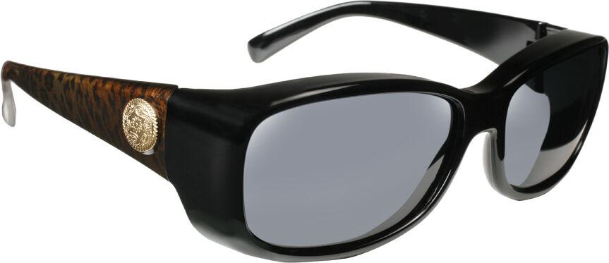 Dahlia - Leopard Frame, Gray Lens