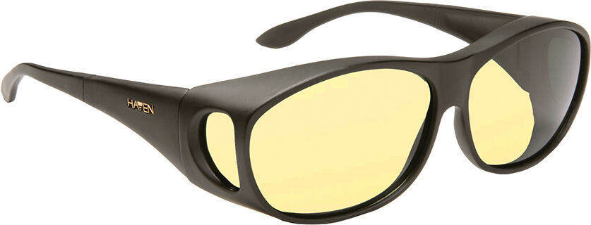 Night Driver - Classic Mod Rectangle, Black frame/Yellow lens