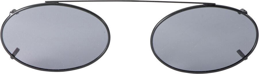 Low Oval - 54mm, Black frame, Gray lens