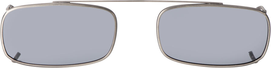 Low Rectangle -50mm, Pewter frame, Gray lens