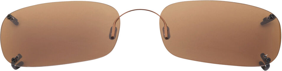 Low Rectangle - 58mm, Rimless frame, Copper lens
