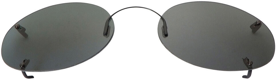 Low Oval - 56mm, Rimless frame, Gray lens