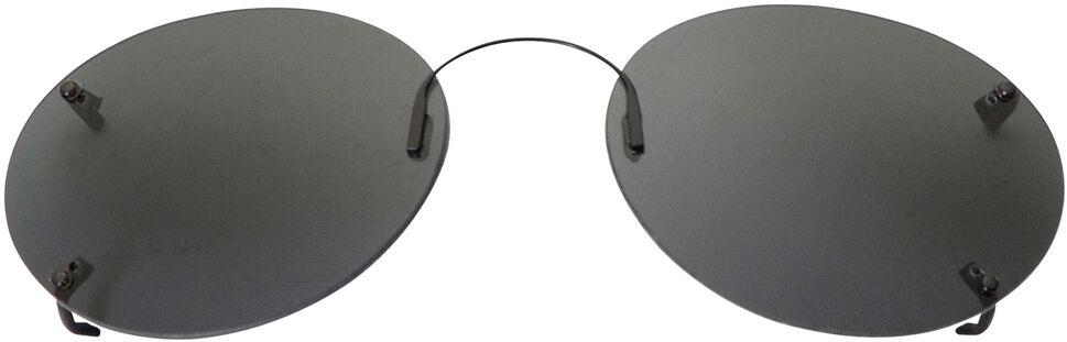 Oval - 54mm, Rimless frame, Gray lens