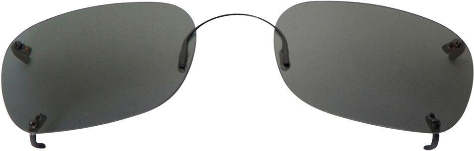 Rectangle - 56mm, Rimless frame, Gray lens