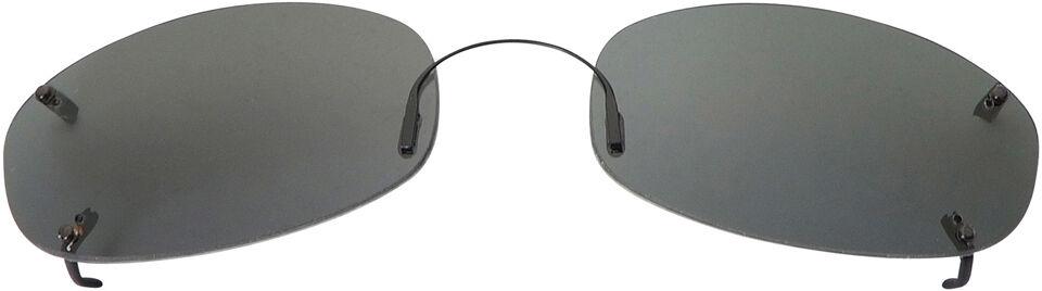 Oblong - 54mm, Rimless frame, Gray lens