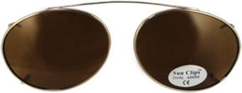 Oval - 52mm, Gold frame, Brown lens