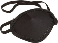 Black Fabric Eye Patches