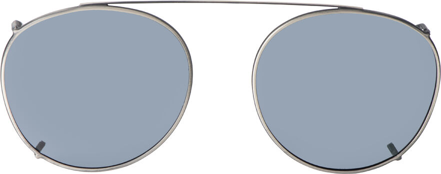 Round - 54mm,Pewter frame, Gray lens