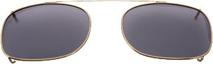 Rectangle - 44mm, Antique Gold frame, Gray lens