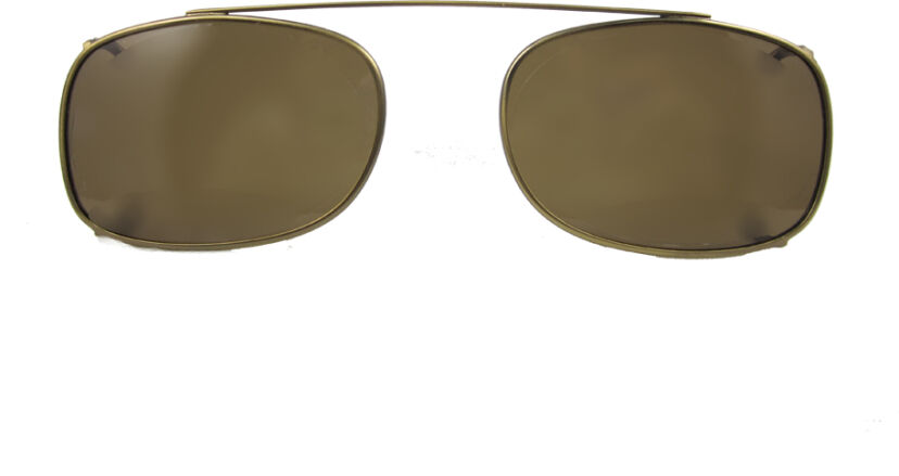 Rectangle - 52mm, Antique Gold frame, Brown lens