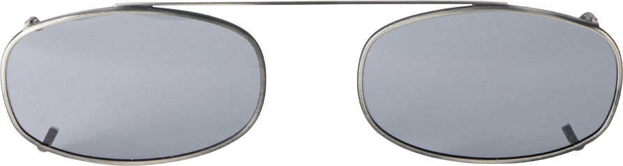 Oblong - 54mm, Pewter frame, Gray lens