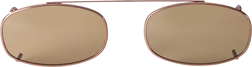 Oblong - 52mm, Bronze frame, Brown lens