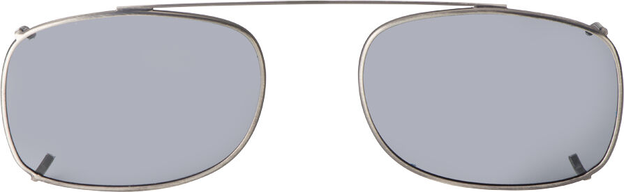 Rectangle - 56mm, Pewter frame, Gray lens