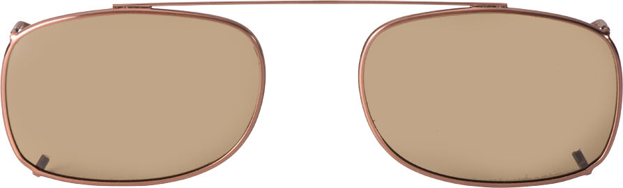 Rectangle - 56mm, Bronze frame, Brown lens