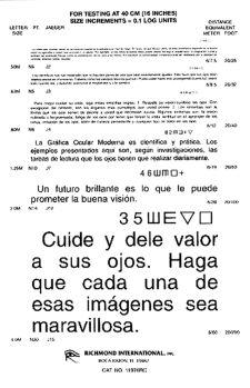 Spanish Reading Card