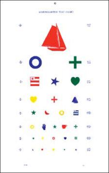 Kindergarten 20' Acuity Chart