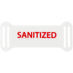Sanitized: Reusable Frame Tags Black /1000Ea