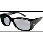 Dahlia - Crystal/Black Frame, Gray Lens