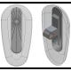 17mm, Symmetrical, Silver - 5 Pair