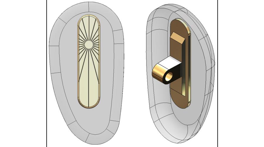 "15mm, ""D"" Shape, Gold - 5 Pair"