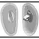 "20mm, ""D"" Shape, Silver - 50 Pair"