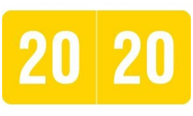 2020 Labels/smead End Tab/ Yellow, 500 Roll