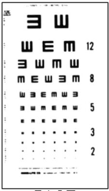 "Visual Acuity Charts - 10' Direct 10"" x 18"""