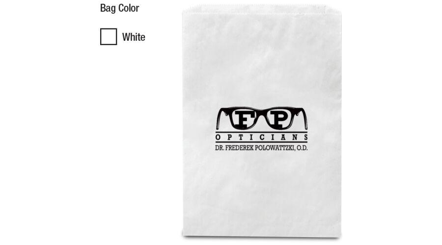 "6.5"" x 9.25"" WHITE MERCHANDISE BAG"
