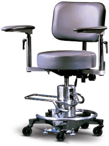 Reliance 558 Hydraulic Stool w/Floor Lock