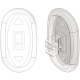 17mm, Oval - 6 Pair